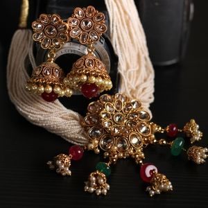Jewelry - Indian Fashion Jewellery - choker and earrings